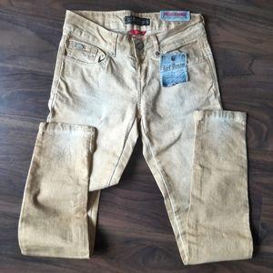 NWT denim sand Zara TRF skinny jeans